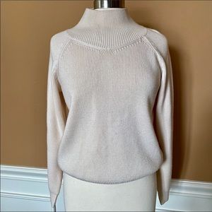 Theory quality wool cream mock neck sweater